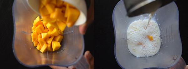 Mango Milkshake cooking steps by GoSpicy.net