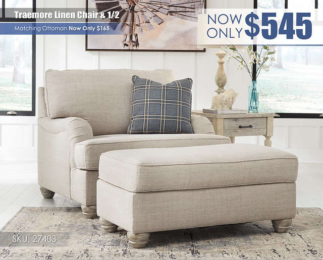 Traemore Linen Chair and a Half_27403-23-14