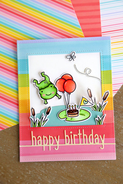 hoppy birthday (Lawn Fawn inspiration week)