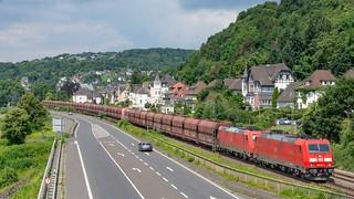 Linz Am Rhein 185 247-185 244 met kolentrein