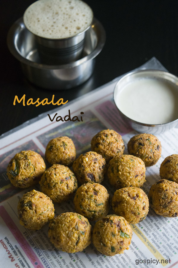 Masala Vadai Recipe by GoSpicy.net