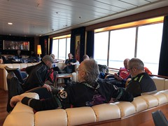 tour end - on the ferry back to Pompy