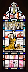 North porch: St Teresa and St Margaret (Margaret Agnes Rope, 1929)