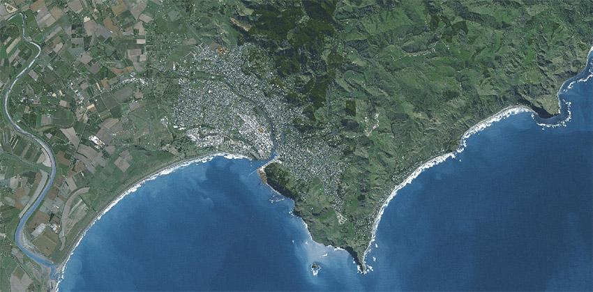 Gisborne von oben (http://maps.gdc.govt.nz/H5V2_7/)