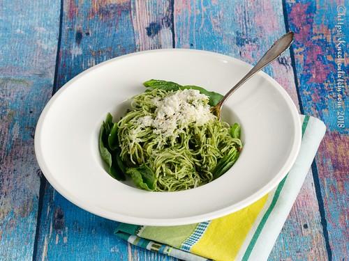 Spaghetti mit Spinatpesto (2)