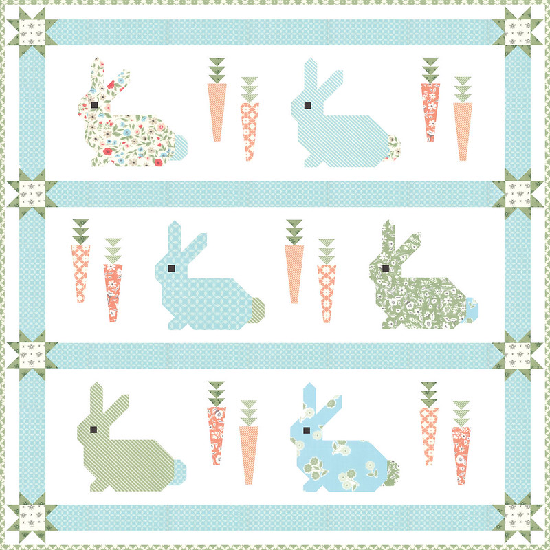 Cottontail quilt top