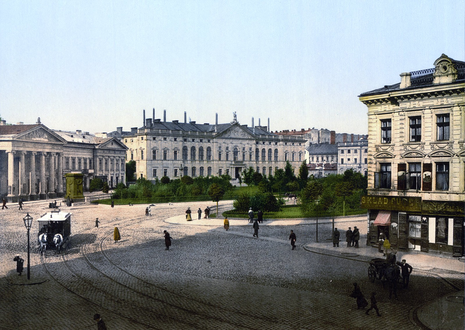 Варшава. Площадь Красиньских. 1890-х годы.