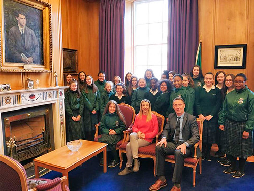 The students of St Louis Dundalk were given a tour of the Irish Parliament, Dáil Éireann, by one of their Ministers, Peter Fitzpatrick TD