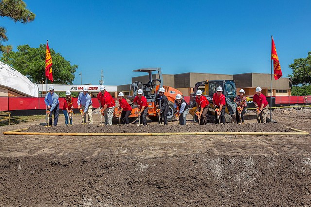 2018 Groundbreaking at Clearwater Central Catholic High School for New Athletic Field House