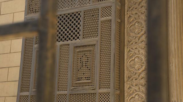 Mashrabiya style windows in the palace