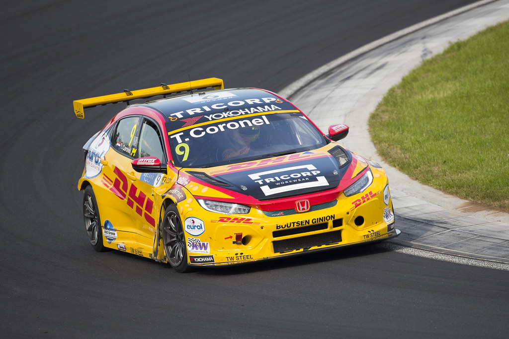 09 CORONEL Tom (NLD), Boutsen Ginion Racing, Honda Civic TCR, action during the 2018 FIA WTCR World Touring Car cup, Race of Hungary at hungaroring, Budapest from april 27 to 29 - Photo Gregory Lenormand / DPPI