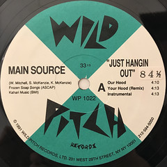 MAIN SOURCE:JUST HANGIN OUT(LABEL SIDE-A)