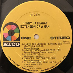 DONNY HATHAWAY:EXTENSION OF A MAN(LABEL SIDE-A)