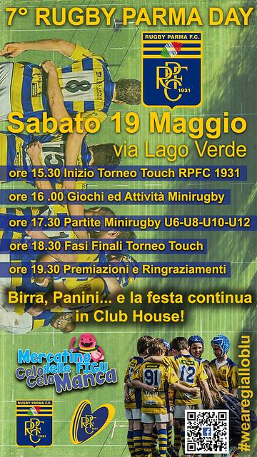 Locandina 7° Rugby Parma Day (Federico Uriati)