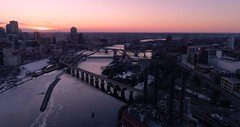 Cinematic VIew of Minneapolis Skyline - Aerial in 4K