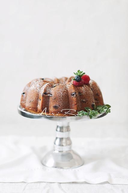 Blueberry- Lemon Bundt Cake.
