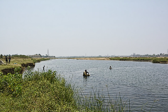 Proposed site for the fourth anicut on the Mahanadi near Rajim-Nawapara.