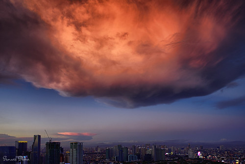 Most amazing natural sunset clouds