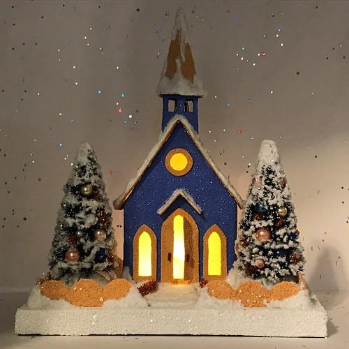 Blue and Orange Putz Church