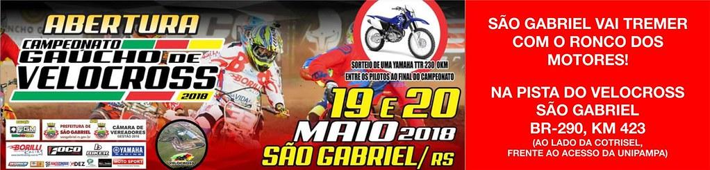 Prestigie a Abertura do Campeonato Gaúcho de Velocross em São Gabriel - 19 e 20 de maio