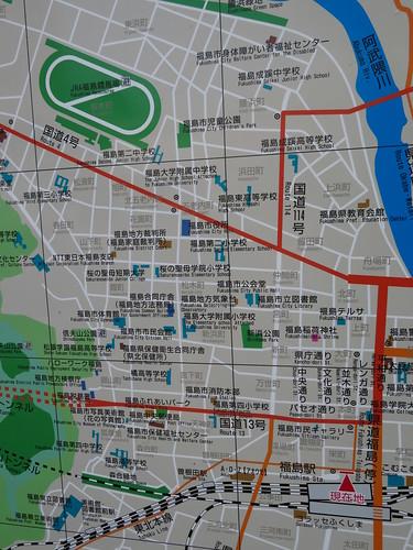 福島駅から福島競馬場までの道順