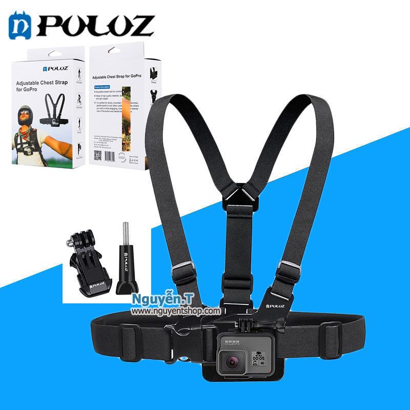 Dây đeo ngực cho GoPro hero + J-Hook mount và vít vặn hãng PULUZ chất lượng cao