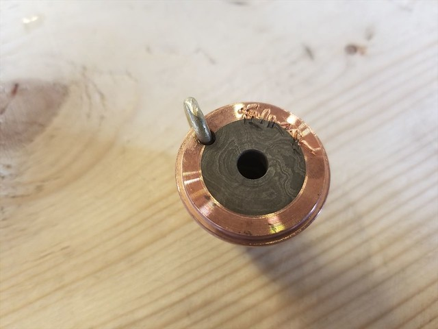 DAMASCUS & COPPER PENDANT