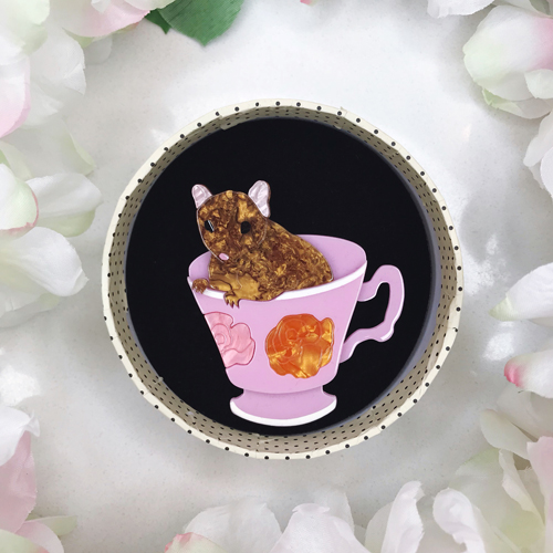 Erstwilder An-Tea-Chinus Mouse Brooch