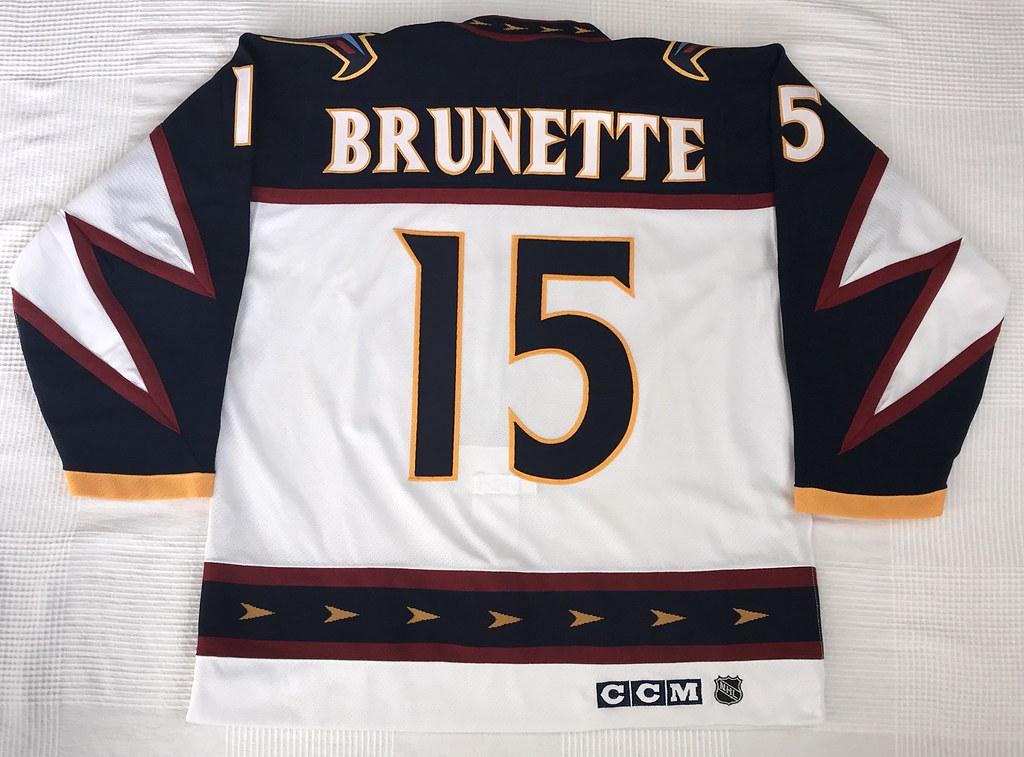 1999-2000 Andrew Brunette Atlanta Thrashers Home Jersey Back