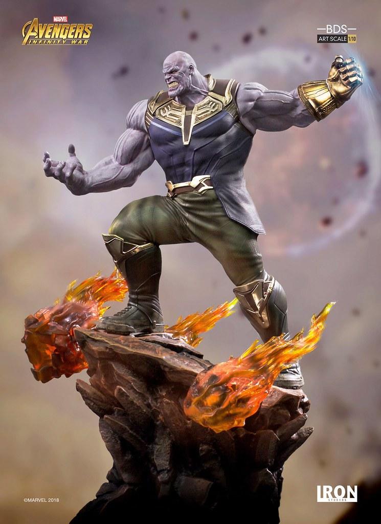 完全不愧對「瘋狂泰坦」名號的霸氣造型!! Iron Studios Battle Diorama 系列《復仇者聯盟3:無限之戰》薩諾斯 Thanos 1/10 比例決鬥場景雕像作品