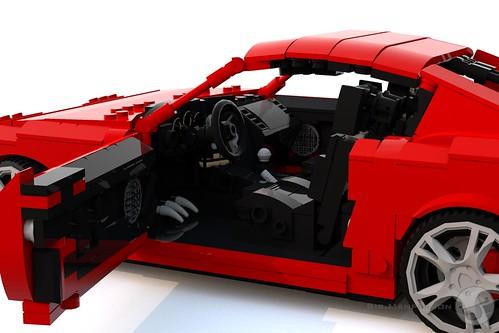 Toyota Supra drivers side - 16-wide - Lego
