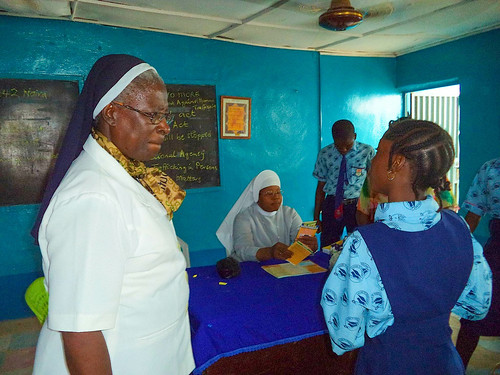 Sr Patricia Ebegbulem SSL also spends time on outreach services, where she talks about the issue of Human Trafficking with young people in an effort to reduce the problem
