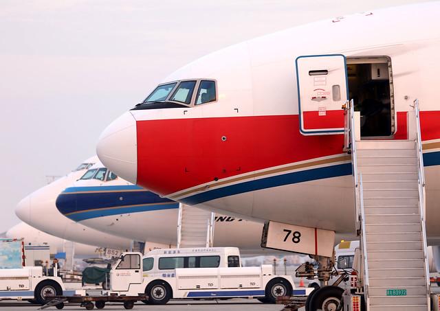 Boeing Heavies at Shanghai Pudong Airport