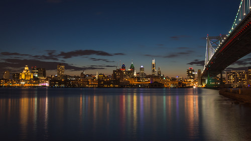 Philadelphia Reflecting at Blue Hour