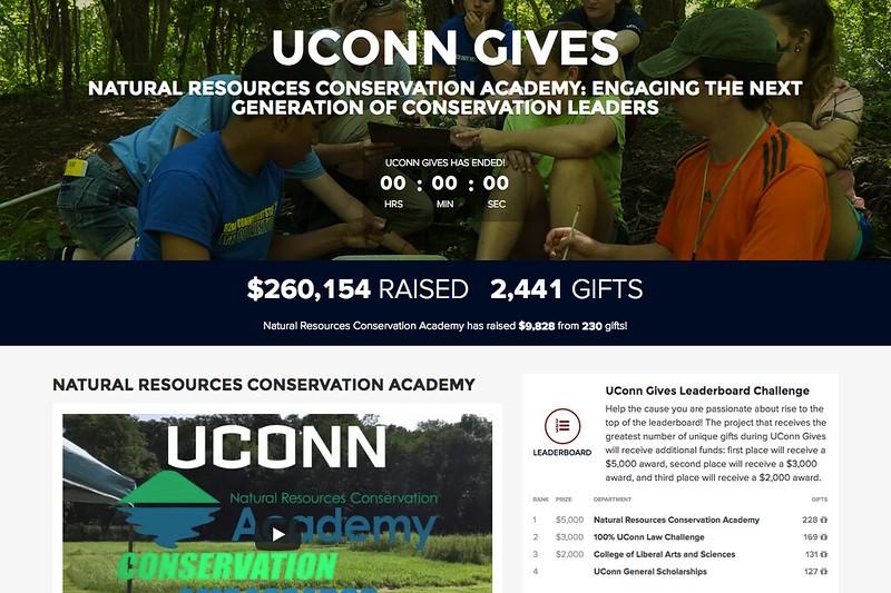 CAHNR NRCA - UConn Gives