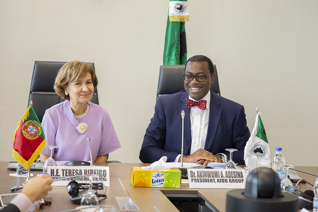 Visit of Ms. Teresa Ribeiro, Secretary of State for Foreign Affairs and Cooperation of Portugal to AfDB