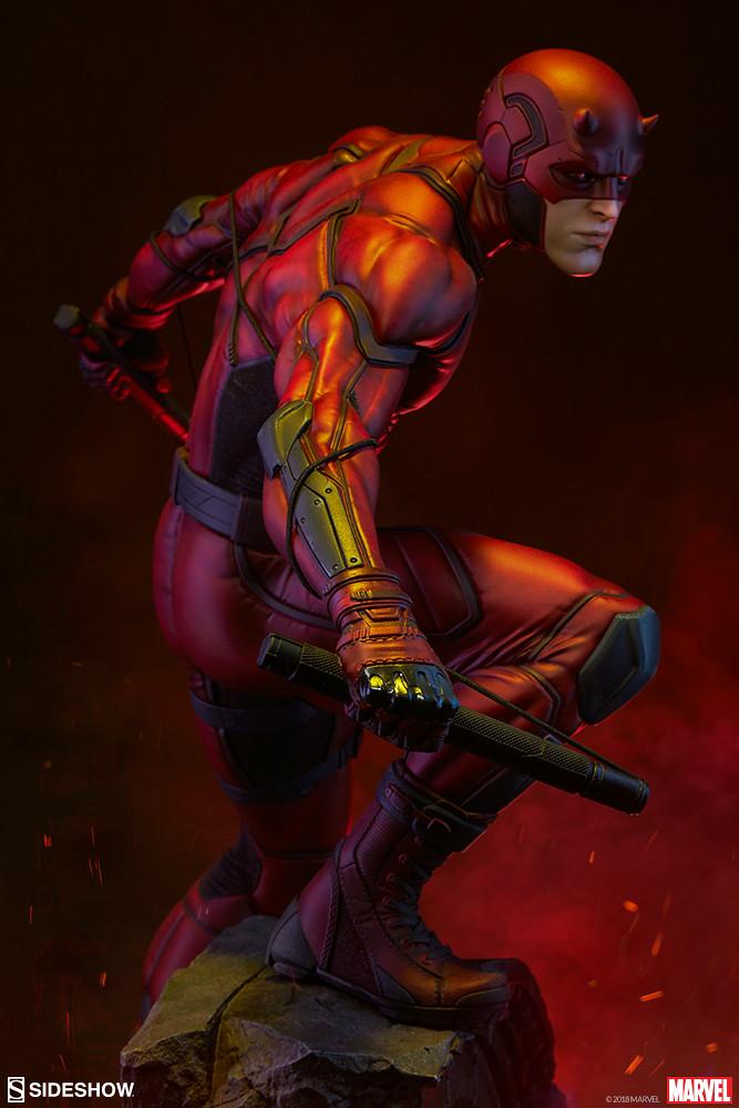 來自地獄廚房的惡魔!! Sideshow Collectibles Premium Format Figure 系列 Marvel Comics【夜魔俠】Daredevil 1/4 比例全身雕像作品