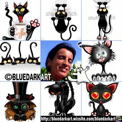 #artvsartist #memes - #Cats illustrations :copyright: #BluedarkArt