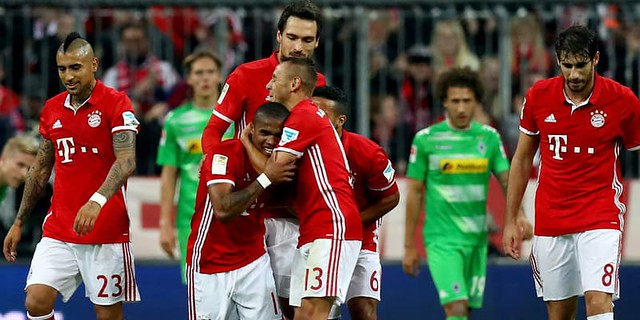 Bayern Munchen vs Borussia Monchengladbach,Dengan Skor Akhir 5-1