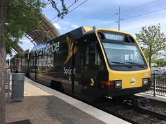 DART train in Garland TX
