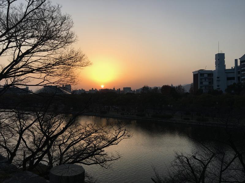 Hiroshima Castle Sunset