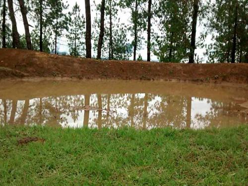 नाग गाँव में तालाब का निर्माण