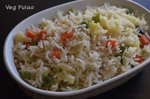 Vegetable Pulao/Veg Pulao Recipe by GoSpicy.net