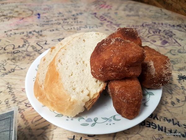 Bread and cinnamon balls