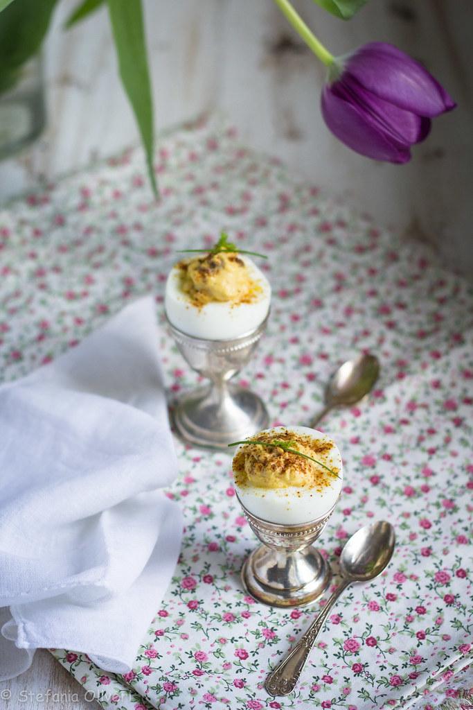 Uova sode ripiene light (senza maionese)