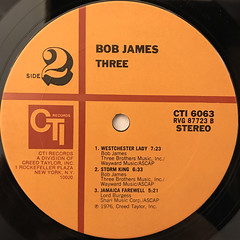 BOB JAMES:THREE(LABEL SIDE-B)