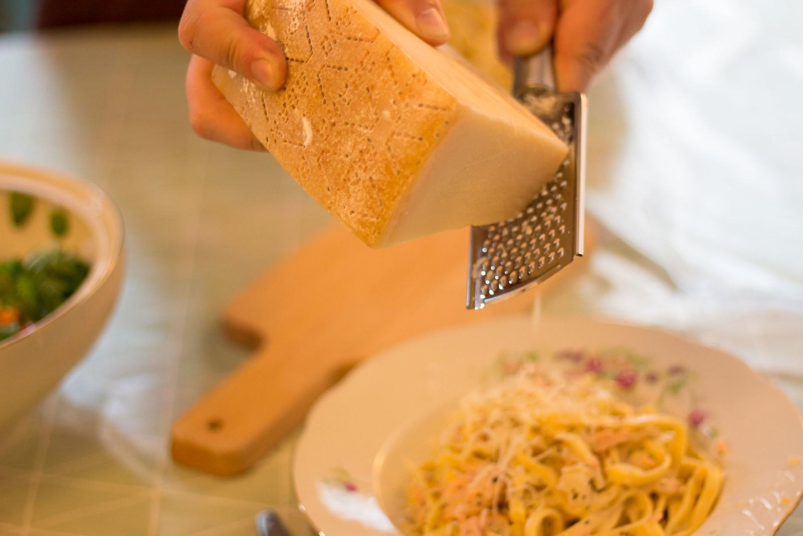 schnelle pasta mit räucherlachs