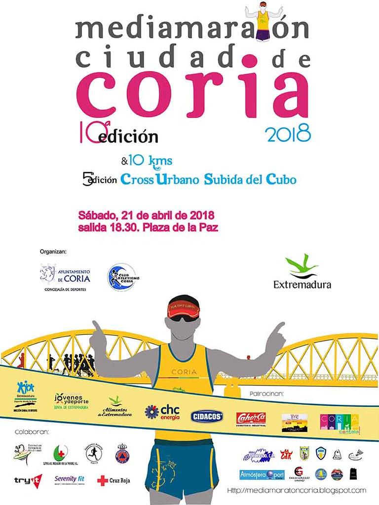 """Sigue abierto el plazo para participar en la X Media Maratón """"Ciudad de Coria"""" hasta el 19 de abril"""