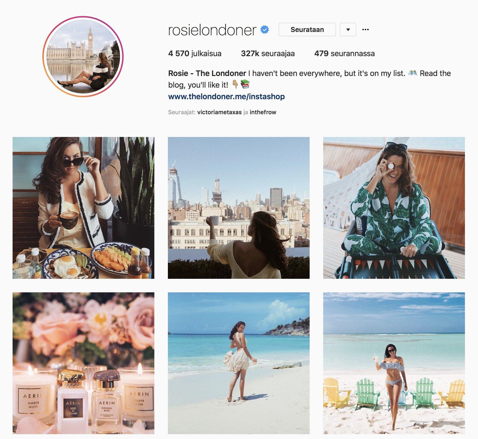 Inspiroivimmat Instagramit Rosie The Londoner
