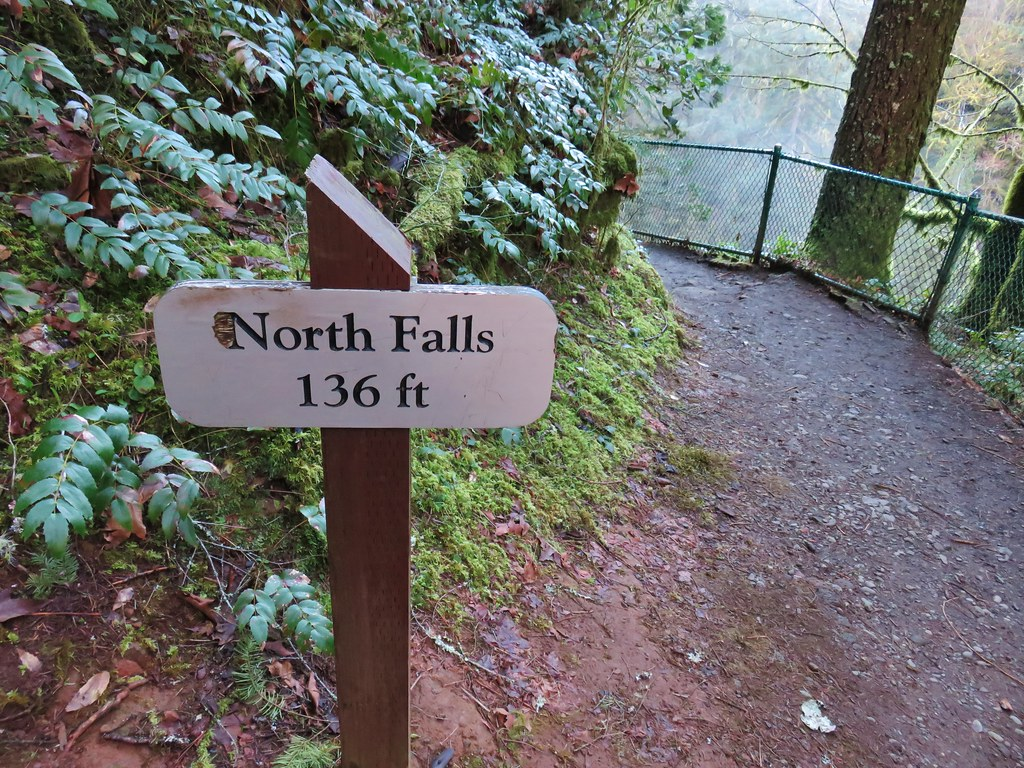 Sign for North Falls